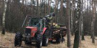 Przyczepa leśna 13ton