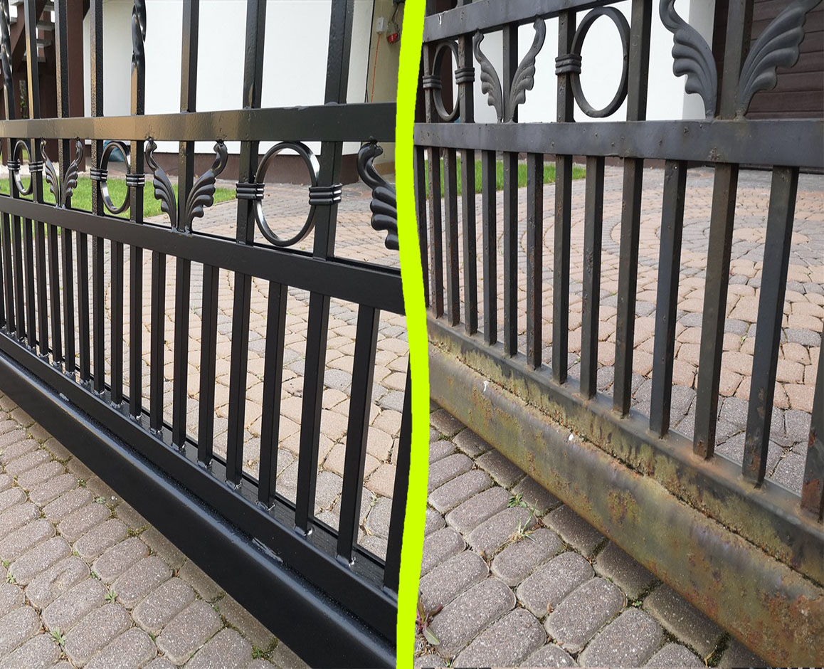 Renowacja metalowego ogrodzenia